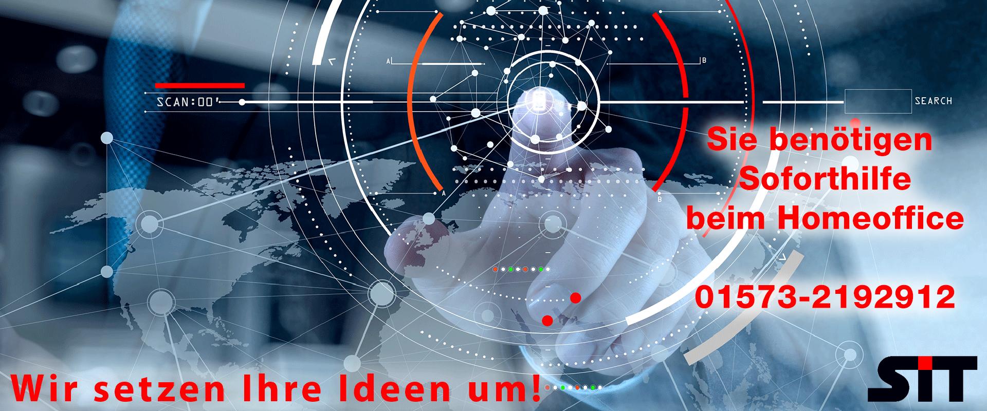 Bild mit Schriftzug: Wir setzen Ihre Ideen um!